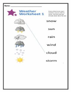 Ficha interactiva Weather WorkSheets
