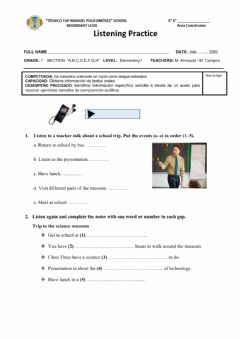 Interactive worksheet Shool trip