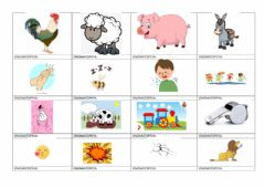 Interactive worksheet Onomatopeyas