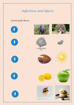 Interactive worksheet Objects and adjetives