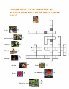 Interactive worksheet What's exciting about holidays? Crossword Puzzle