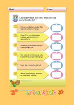 Interactive worksheet Bersikap Adil
