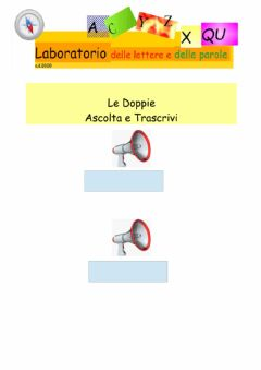 Interactive worksheet Dettato: Doppie n.1