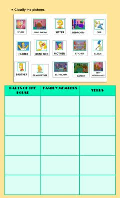 Interactive worksheet Family life, activity 1, EXPERIMENTING