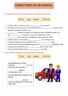 Interactive worksheet Conectores de secuencia
