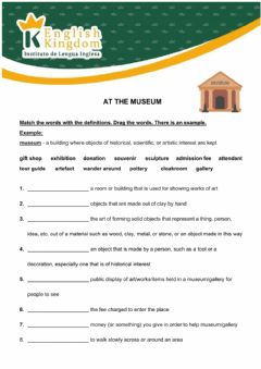 Interactive worksheet At the museum -TEENS 2