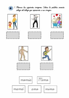 Interactive worksheet Repaso Vocabulario Letras M S P