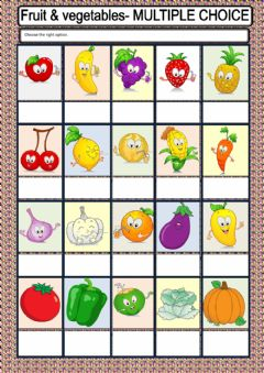 Interactive worksheet Fruit or Vegetable?