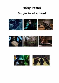 Interactive worksheet Harry Potter subjects