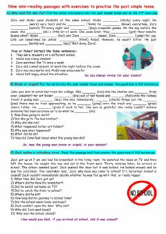 Interactive worksheet Nine mini reading comprehensions