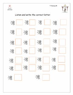 Interactive worksheet The alphabet letter