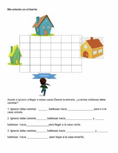 Interactive worksheet Me oriento en mi barrio