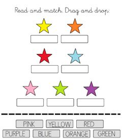 Interactive worksheet Match colours