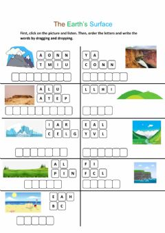 Interactive worksheet The Earth's Surface