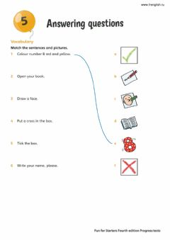 Ficha interactiva Fun for Starters - Answering Questions 2