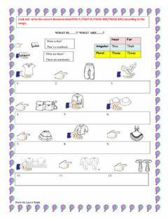 Ficha interactiva Demonstratives and clothes