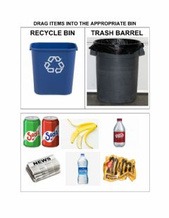 Interactive worksheet Recycle Sort