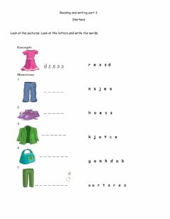 Interactive worksheet Reading and writing part 3