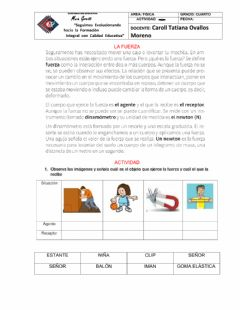 Interactive worksheet La fuerza