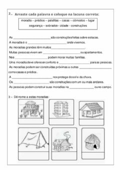 Interactive worksheet Moradias