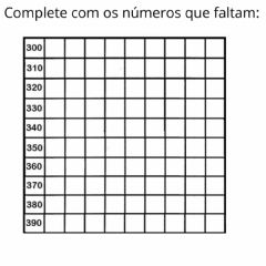 Interactive worksheet Família do 300