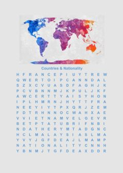 Interactive worksheet Countries wordsearch