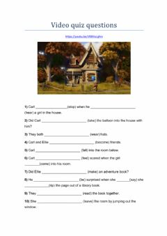 Interactive worksheet UP! Carl & Ellie (interpretation)