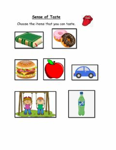 Interactive worksheet Can you taste it?