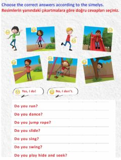 Interactive worksheet At the Playground - 5