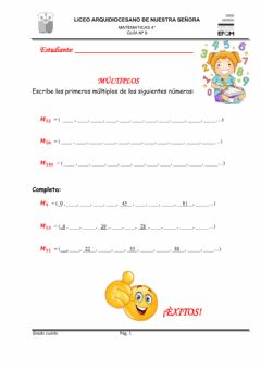 Interactive worksheet Múltiplos