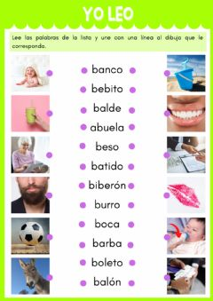 Interactive worksheet Palabras con b