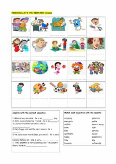 Interactive worksheet What are you like?