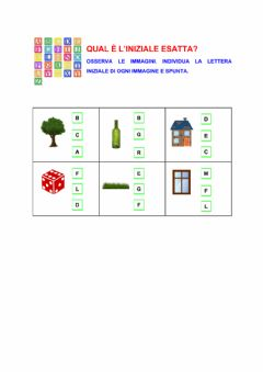 Interactive worksheet Lettere