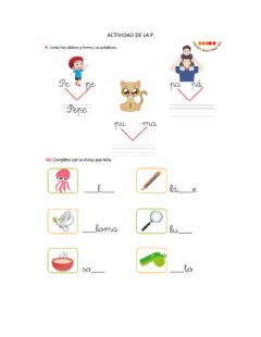 Interactive worksheet Letra p