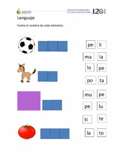 Interactive worksheet Consonante m y p
