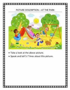 Interactive worksheet Picture description – at the park