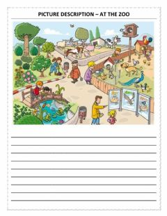 Interactive worksheet Picture description – at the zoo