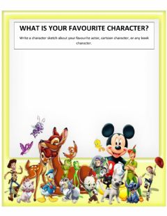 Interactive worksheet Favourite Character! Character Sketch