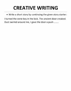 Interactive worksheet Creative Writing