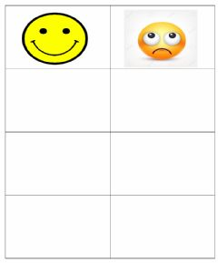 Interactive worksheet Sorting Happy and Sad faces