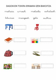 Interactive worksheet Hiztegia