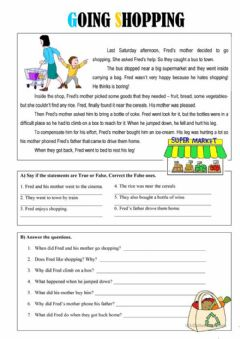 Interactive worksheet Go shopping