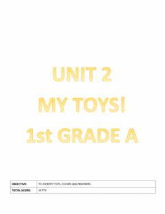 Ficha interactiva My toys! Unit 2