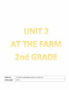 Ficha interactiva At the farm- Unit 2