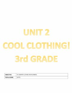 Ficha interactiva Cool clothing- Unit 2