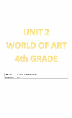 Ficha interactiva World of art- Unit 2