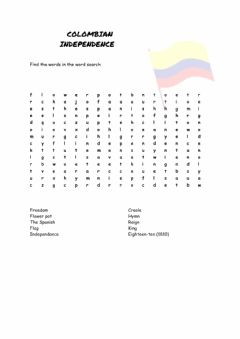 Interactive worksheet Colombian Independence