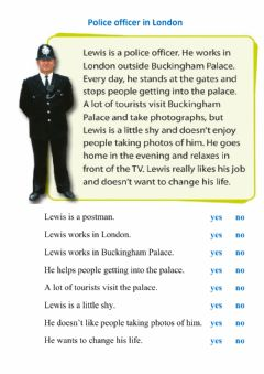 Interactive worksheet Reading - police officer in London 2