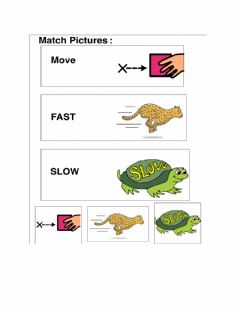 Interactive worksheet Movement words