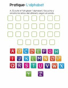 Interactive worksheet L'alphabet